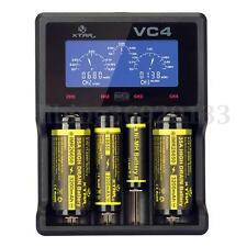 XTAR VC4 LCD Screen USB Batteria Charger 18650 26650 32650 14500 AA AAA LD489 LI