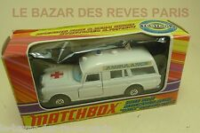 MATCHBOX. SPEED KINGS.  MERCEDES BENZ AMBULANCE. REF. K 26  + boite. (1970)