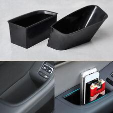 2*Front Car Door Armrest Organiser Storage Box for Audi A4 Q5 2012-2014 BLACK