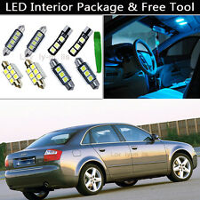15PCS Canbus Ice Blue LED Interior Lights Package kit Fit 02-2004 Audi A4 B6 J1