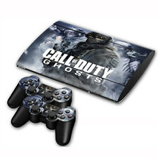 Skin Sticker Cover For PS3 PlayStation Slim 4000 + 2 Controllers Vinyl Decals#16