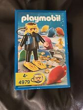 PLAYMOBIL SCUBA DIVER FIGURE SET 4979 BOXED TREASURE HUNT GAME COMPLETE BNIB