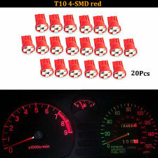 10x Red T10 Wedge 4-SMD LED Gauge Cluster Lights Instrument Panel Lamps W5W 192