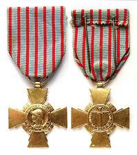 Croix du Combattant. France. Bronze doré. WW1-WW2