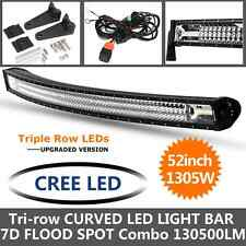 7D 52INCH 1305W CREE LED CURVED LIGHT BAR Tri-Row fit for JEEP Ford SUV 4X4 50""