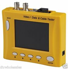 Multi-Functional CCTV Tester with 3.5-Inch LCD and Signal Meter (Yellow)