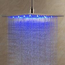 30x30cm Duschkopf Regendusche LED Regenbrause Shower Farbwechsel Regenbrause XXL