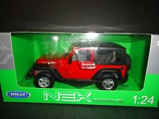 Welly Jeep Wrangler 2007 Red 1/24
