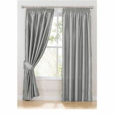 Luxury Faux Silk Fully Lined Pencil Pleat Curtains Including Tie Backs *Reduced*