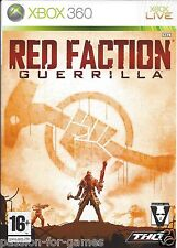 RED FACTION GUERRILLA for Xbox 360 - with box & manual - PAL