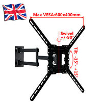 "Swivel Tilt Wall Mount TV Bracket 32 37 42 48 50 55"" LED LCD Plasma Cantilever"