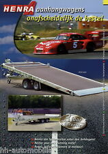 Prospekt Henra Autotransporter Anhänger 2002 brochure vehicle transporter
