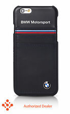 """Official BMW iPhone 6/6s Plus 5.5""""Synthetic Leather(BMHCP6LSHSN)Hard Case-Blue"""