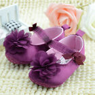 Toddler Infant Baby Girl Flower Cotton Crib Shoes Prewalker Cute Newborn 0-18M
