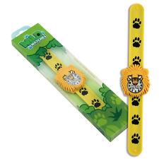 Children's Lion Watch by Wild Watches. Silicone Snap-on wrap around strap