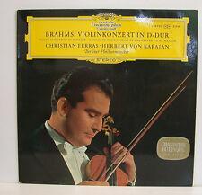 """BRAHMS VIOLINKONZERT IN D-DUR FERRAS VON KARAJAN 12""""LP (e324)"""