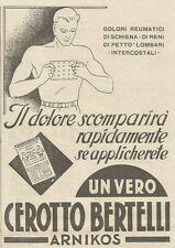 W3298 Cerotto BERTELLI - Pubblicità 1936 - Advertising