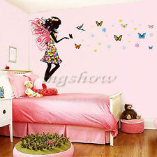 Angel Fairy Girl Butterfly Wall Sticker Decal DIY Kids Nursery Decor Mural Art
