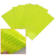 8 Sheet Bike Bicycle Reflective Wheel Rim Stickers Tape Safer Fluorescent Yellow