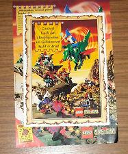 Seltene Werbung LEGO System 6082 Burg Drachenstein + 8S Gewinnspiel-Katalog 1994