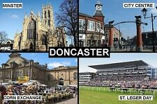 SOUVENIR FRIDGE MAGNET of DONCASTER ENGLAND