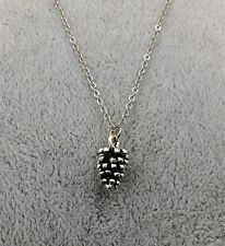 Simple Acorn Oak Fruit Charms Necklace Pendant Squirrel Fall Leaves Nuts Tree
