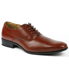 Delli Aldo Men's Lace Up Plain Oxford Dress Shoes w/ Leather lining M-19121