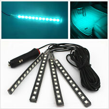 Autos Cigarette Lighter Plug Interior Atmosphere Decor Neon Light Strip Ice Blue