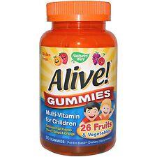 Alive! MultiVitamin for Children -90 Cherry Grape Orange Gummies by Nature's Way