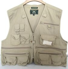 Khaki Tan COTTON PHOTOGRAPHER  Fishing Hunting Hiking Safari TRAVEL Vest XL
