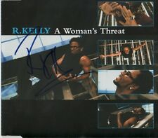"""R. Kelly Autogramm signed CD-Cover """"A Woman´s Threat"""""""