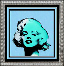 STEVE KAUFMAN Original OIL PAINTING on CANVAS Signed MARILYN MONROE Blonde Nude