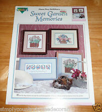 SWEET GARDEN MEMORIES Book~Cross Stitch~Shawn M. McMillion's Designs~FREE SHIP