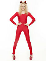 Red Dance Halloween Devil Fancy Dress Unitard Catsuit Costume Outfit KDC012