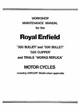 1956-1962 Royal Enfield 350 500 Bullet & 350 Clipper workshop manual