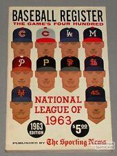Rare 1963 Sporting News Baseball Register Guide