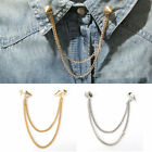 New Stud Shirts Collar Neck Tip Brooch Pin Chain Tassels Necklace Punk hk