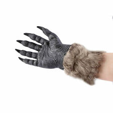 1 Pair Halloween Werewolf Wolf Paws Claws Cosplay Gloves Creepy Costume Party JL
