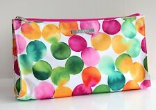 CLINIQUE LARGE GREEN PINK & YELLOW SPOT MAKEUP BAG / TOILETRY BAG