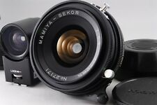 【Near Mint+++】 Mamiya Sekor 50mm f/6.3 W/50mm finder&Hood for press From Japan