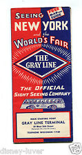 NY WORLDS FAIR 1939 THE GRAY LINE Sightseeing Brochure Fair & NYC tours w prices