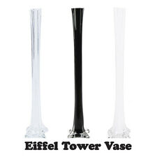 "32"" Glass Eiffel Tower Vases - 12 Pack - BLACK"
