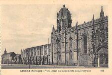 BR45383 Lisboa vista geral do monumento dos jeronymos portugal