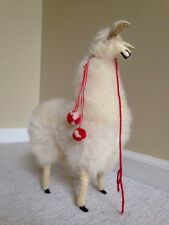 "Handmade Authentic Peruvian Llama Doll w real Alpaca Fur 12"" Tall"