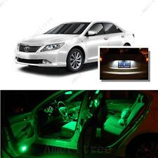 For Toyota Camry W Sunroof 07-11 Green LED Interior Kit +White License Light LED