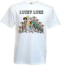 LUCKY LUKE ALL STARS Movie Poster T shirt white all sizes