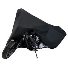 Black XXL Motorcycle Rain Cover for Yamaha Standard Sports Street Bike Cruiser