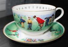 Vintage ROYAL WORCESTER VIP Very Important Person GOLFERS Oversized Cup&Saucer