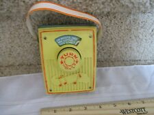 Vintage Fisher Price Pocket Radio Music Box works Where Has My Little Dog Gone