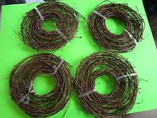 Lot of 4 Rolls 15' (60' Feet Total) Primitive Twigy Garland Grape Vine Grapevine
